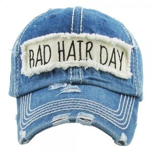 🌟COMING SOON🌟Denim BAD HAIR DAY baseball cap